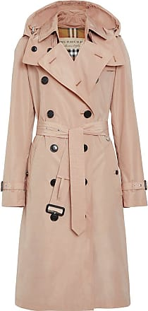 Burberry Trench coat com capuz removível - Rosa