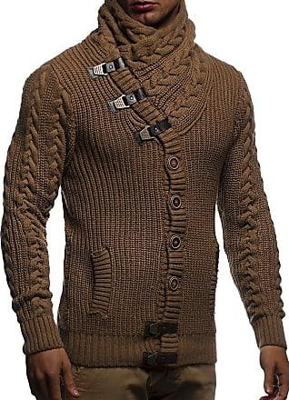 Leif Nelson Men Cardigan Jacket Shawl Collar N # #NV