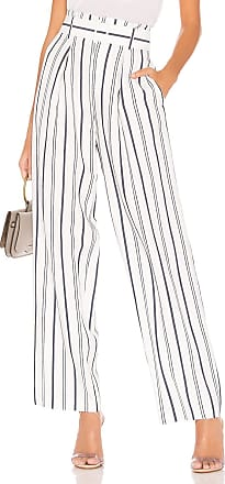 Vince Dobby Stripe Belted Pant in White