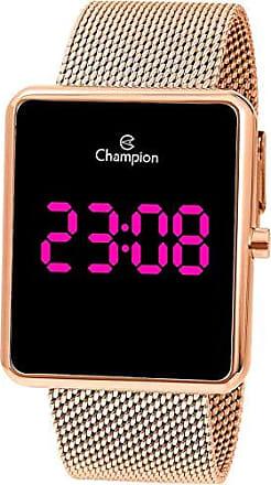 Champion Relógio Champion Feminino Digital Led Quadrado Rosê Ch40080h