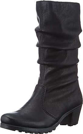 Rieker Womens Herbst/Winter High Boots, Black (Schwarz / 01 01), 6.5 UK
