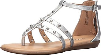 Aerosoles Womens Social Chlub Gladiator Sandal, Silver, 5 M US