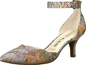 Anne Klein Womens FINDAWAY Pump, Ivory/Light Green/Multi, 8 M US
