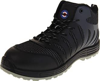 Footwear Studio Lambretta Mens Steel Toe Safety Boots Black UK 10