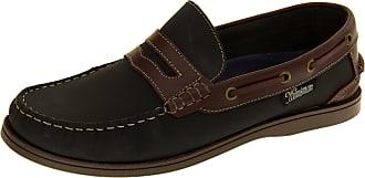 Footwear Studio Helmsman Mens 72015 Navy Blue and Redwood Real Leather Casual Deck Shoes UK 11