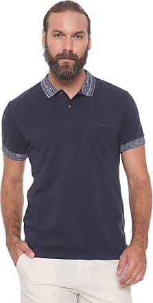 e3a4a150ed Colcci Camisa Polo Colcci Reta Mescla Azul-marinho