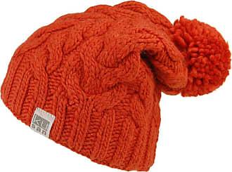 KuSan Oversized Bobble Hat - Burnt Orange 1-Size
