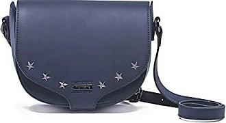 Mondaine Bolsa Pequena Tiracolo Azul com Aplicação de Estrelas