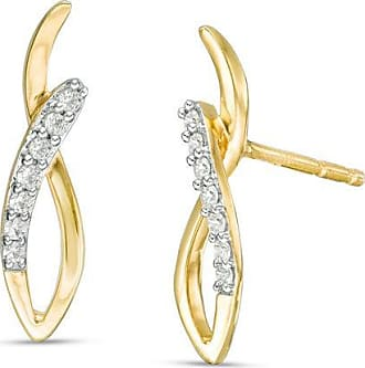 5bf90dd09 Zales Diamond Accent Twist Loop Earrings in 10K Gold