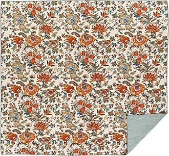 VHC Brands Farmhouse Bedding - Meredith Orange Quilt, Queen