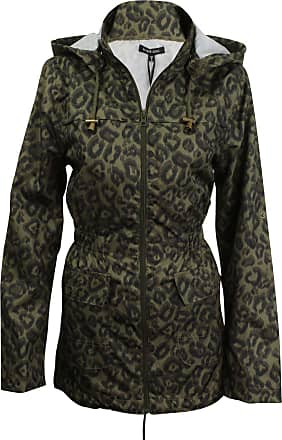 e70688888fb5 Brave Soul Womens  Ladies Shower-proof Rain Mac Coat by Brave Soul Trance  Leapard