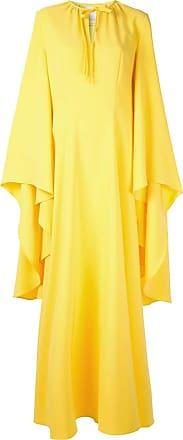 Ingie Paris Vestido de festa drapeado nas mangas - Amarelo