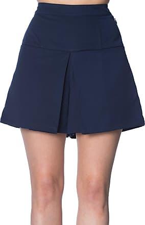 Banned Cindy Vintage Retro Shorts Navy/UK-10