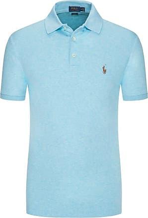 Polo Ralph Lauren Poloshirt in Jersey-Stoff, Slim Fit von Polo Ralph Lauren in Aqua für Herren