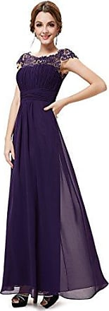 chi chi london hochwertiges spitzen ballkleid mit ärmeln dunkel violett