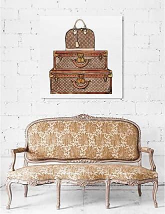 The Oliver Gal Artist Co. The Oliver Gal Artist Co. Oliver Gal Royal Bag and Luggage Brown Fashion Wall Art Print Premium Canvas 36 x 36