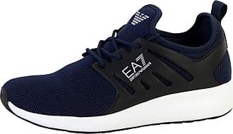 Emporio Armani Minimal Runner Trainers Blue 9 UK