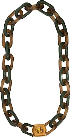 Marni Vertigo hexagonal-ornament long necklace - Red