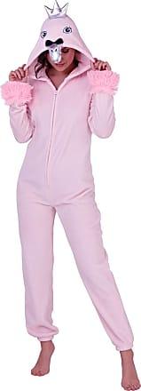 Lora Dora Womens Fleece All in One Swan Pink Small