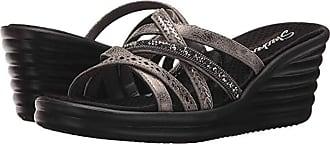 Skechers Rumbler Wave - New Lassie (Pewter) Womens Shoes