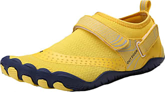 ICEGREY Mens Womens Water Shoes Beach Surf Diving Swim Barefoot Aqua Shoes Quick Dry Lightweight for Pool Sand, Yellow UK 10.5