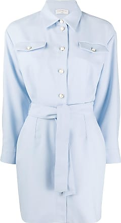 Sandro belted shirt dress - Blue