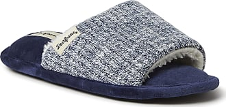 Dearfoams Womens Lane Knit Slide Slipper, Peacoat, Medium