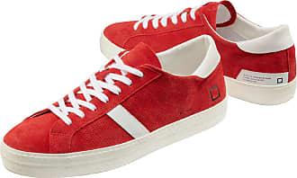 D.A.T.E. Herren Sneakers Rot gemustert