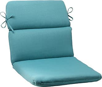 Pillow Perfect Outdoor Forsyth Rounded Chair Cushion, Turquoise
