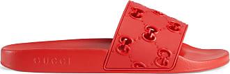 Gucci Mens rubber GG slide sandal