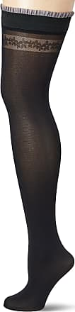 Fiore Womens Belen/Sensual Hold - up Stockings, 40 DEN, Black, Large (Size: 4)