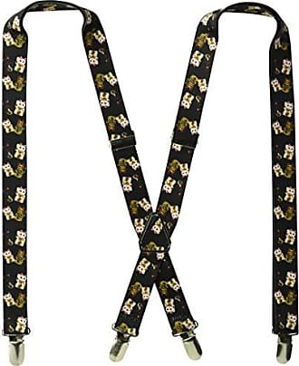 Buckle Down Buckle-Down Mens Suspender-Lucky Cats, Multicolor, One Size