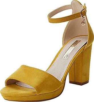 103d3818278a Xti 30686, Scarpe con Cinturino alla Caviglia Donna, Giallo (Panama), 39
