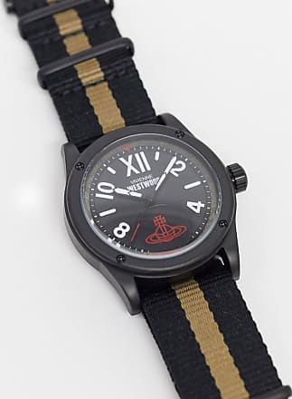Vivienne Westwood dalston watch in stripe-Black