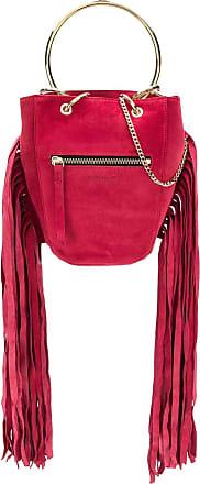 Just Cavalli Bolsa saco com franjas - Vermelho