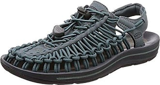 Keen Womens Uneek Sandal, Stormy Weather/Wrought Iron, 7.5 M US