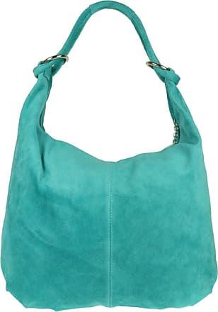 Girly HandBags Girly HandBags Hobo Italian Suede Leather Shoulder Bag (Turquoise)