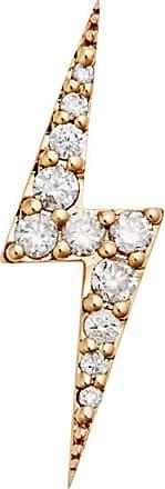 Zoe & Morgan Zap Gold & Diamond - Einzelohrstecker - Gold/White