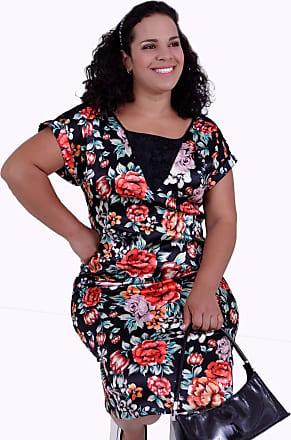 Vickttoria Vick Vestido Garden Estampado Plus Size (46)
