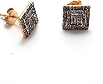 Boreale Joias Brinco Ouro 18k 750 Chuveiro Zircônias 9mm Quadrado