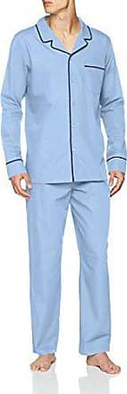 Seidensticker Chambray Pyjama Lang Conjuntos de Pijama para Hombre