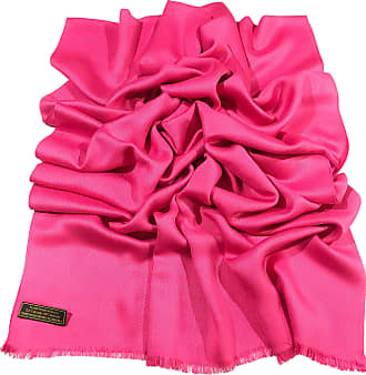 CJ Apparel Hot Pink Fringe Solid Colour Design Nepalese Shawl Scarf Wrap Stole Throw Pashmina Pashminas CJ Apparel NEW