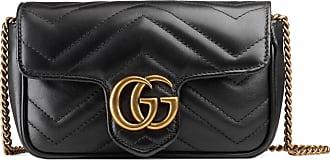 Gucci GG Marmont Super-Mini-Tasche aus Matelassé-Leder