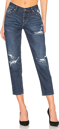 One Teaspoon Awesome Baggies Skinny Boyfriend Jean in Blue Moon