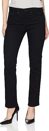NYDJ Womens Sheri Slim Jeans, Black Deux, 8