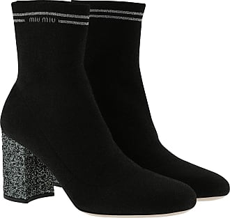Miu Miu Boots & Booties - Sock Ankle Boots Nylon Black - black - Boots & Booties for ladies