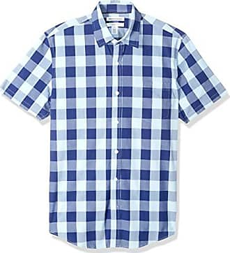 in popeline casual Essentials Camicia da uomo a maniche lunghe slim fit
