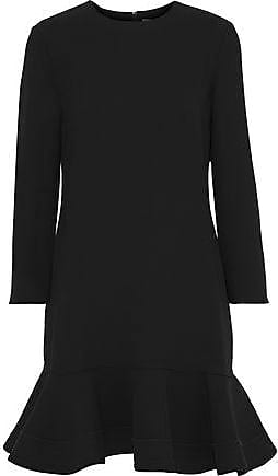 Victoria Beckham Victoria, Victoria Beckham Woman Flared Crepe Mini Dress Black Size 14