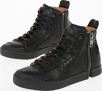 Diesel Leather and Denim ZIP-ROUND S-NENTISH Sneakers Größe 40