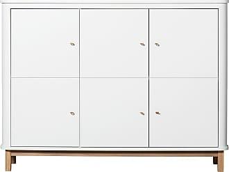 Oliver Furniture Wood multiskåp garderob vit/ ek, oliver furniture
